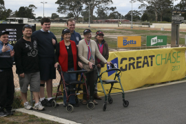 Traralgon Great Chase and a greyhound called Dalkeith
